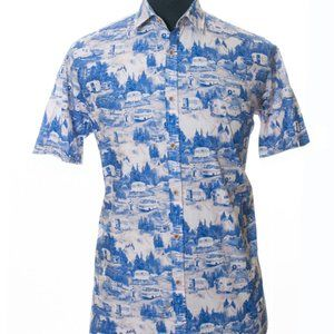 Ted Baker Camping Print Carav Short Sleeve Shirt